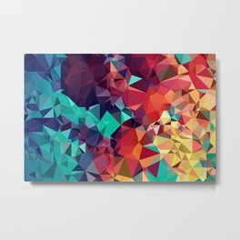 Abstract Rainbow Gem Metal Print