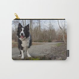 Border Collie Loving Life  Carry-All Pouch