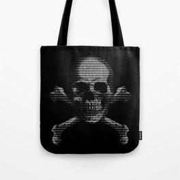 Hacker Skull and Crossbones Tote Bag