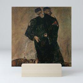 "Egon Schiele ""The Hermits"" Mini Art Print"