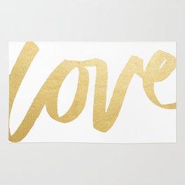 Love Gold White Type Rug