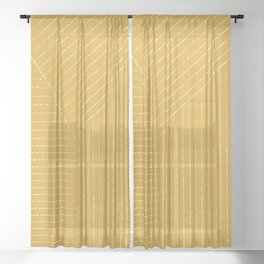 Lines (Mustard Yellow) Sheer Curtain