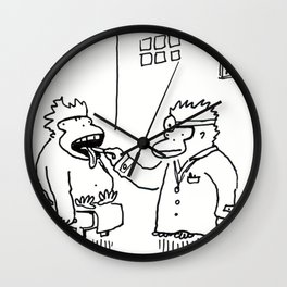 Ailing Ape Visits the Ape Doctor Wall Clock
