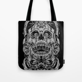 2 FACES SKULL Tote Bag