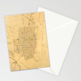 Vintage Map of Alexandria VA (1864) Stationery Cards