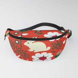 Spring woodland and a little bunny Fanny Pack