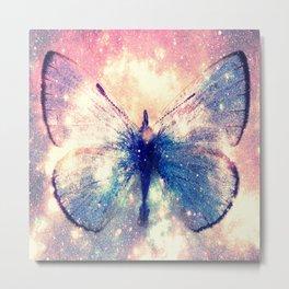 Celestial Butterfly Deep Pastels Metal Print
