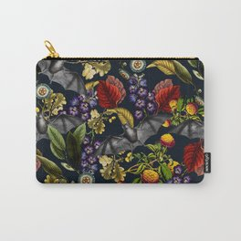 Flying Fox and Floral Pattern Carry-All Pouch
