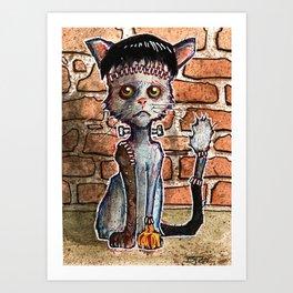 Franken Kitty Art Print