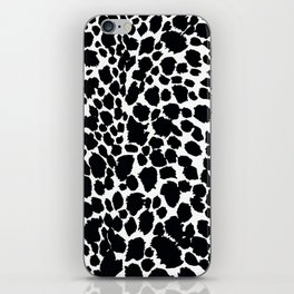 Animal Print Cheetah Black and White Pattern #4 iPhone Skin