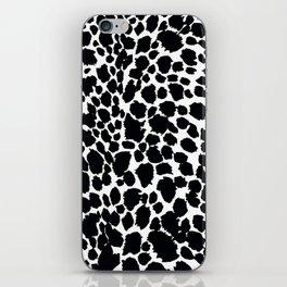 Animal Print Cheetah Black and White Pattern #4 iPhone Skin
