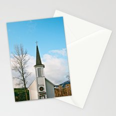 Country Church in the Mountians Stationery Cards