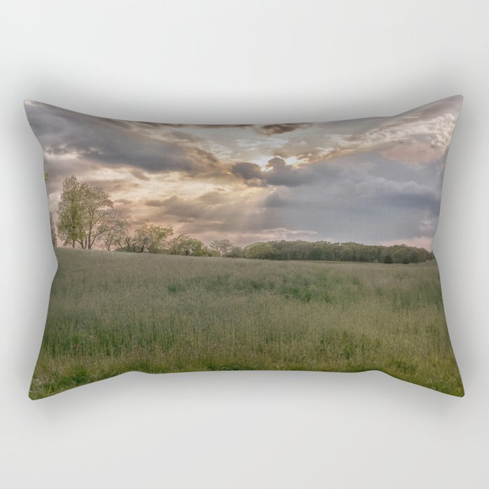 Summer field Rectangular Pillow