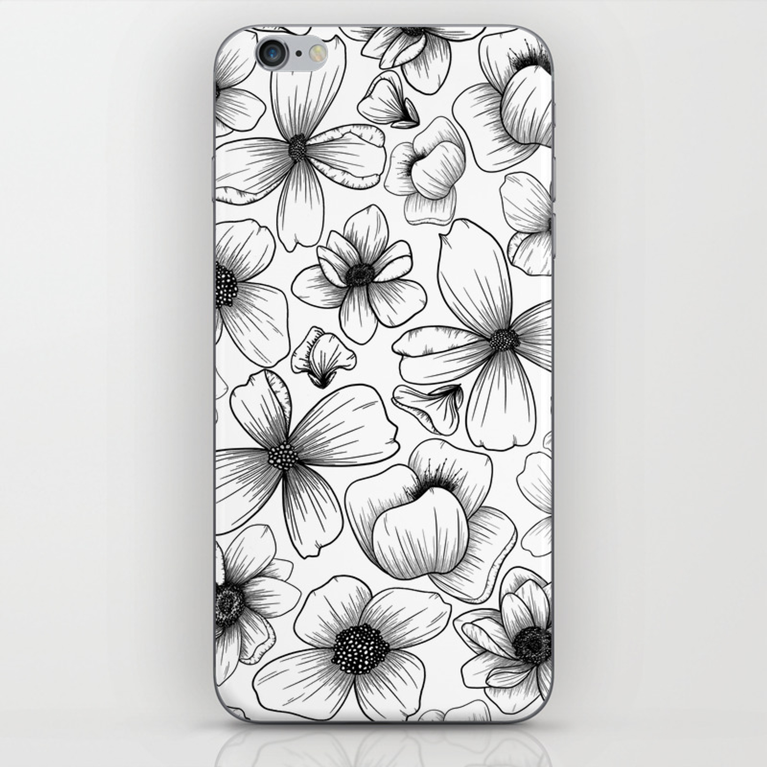 Floral Wallpaper 1 Iphone Skin By Coolgray8designs Society6