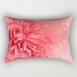 A Touch of Love - Pink Rose with Hearts #1 #art #society6 Rectangular Pillow