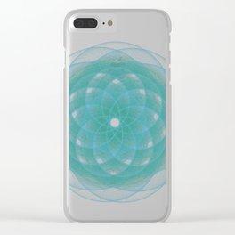 OmniGeo#4 - Geometric Pattern Clear iPhone Case