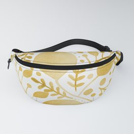 Branches and leaves - yellow Fanny Pack