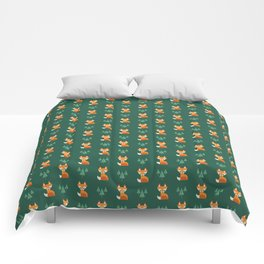 Geometric Foxes Comforters