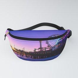 Santa Monica purple sunset Fanny Pack