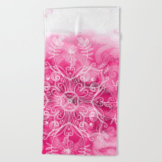 Pink + Patterns Beach Towel