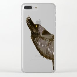 Totem Yukon Black Wolf Clear iPhone Case