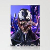 venom Stationery Cards featuring VENOM by corverez