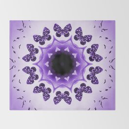 All things with wings (purple) Throw Blanket