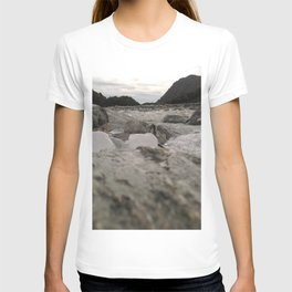 franz josef glacier in new zealand river with ice cubes rough cold T-shirt