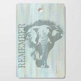 African Bull Elephant Remember Cutting Board
