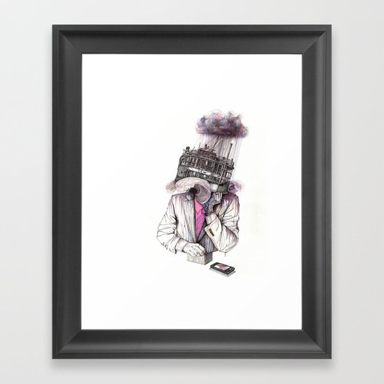 s.o.s Framed Art Print