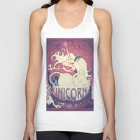 the last unicorn Tank Tops featuring The Last Unicorn by Lara Pratt