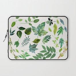 Circle of Leaves Laptop Sleeve