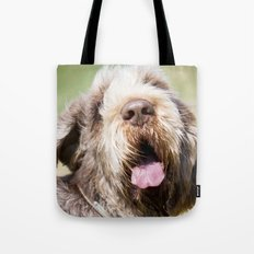 Brown Roan Italian Spinone Head Shot Tote Bag
