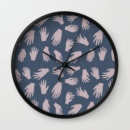 Hands Pattern Wall Clock