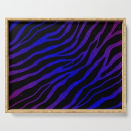 Ripped SpaceTime Stripes - Purple/Blue Serving Tray