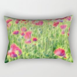 Wild Poppies Rectangular Pillow