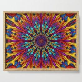 Amazing colors 3D mandala Serving Tray