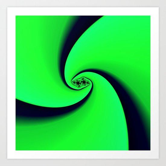 Black and Green  Art Print