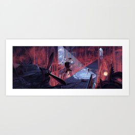 Dusty vs Lykane Art Print