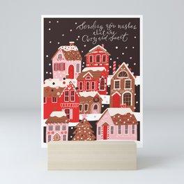 Gingerbread Village Mini Art Print