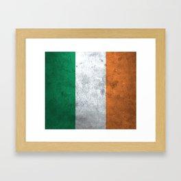Distressed Irish Flag Framed Art Print