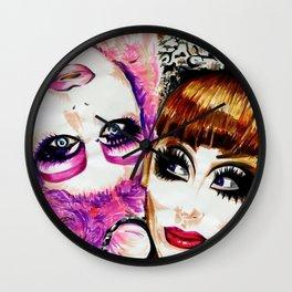 Upside Down Girl Glen Alen & Bianca Del Rio Wall Clock