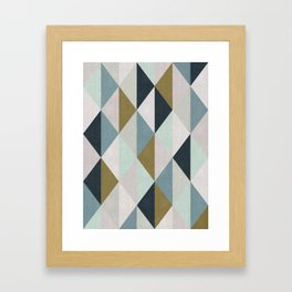 Triangle Pattern IV Framed Art Print