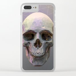 Skull Colorful Wires 1 Clear iPhone Case