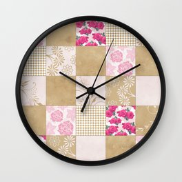 Spring Time - Patchwork Wall Clock