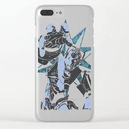 Cyber Graffiti Clear iPhone Case