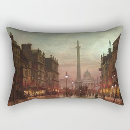 Whitehall at Twilight, Westminster, London, England by Louis H. Grimshaw Rectangular Pillow