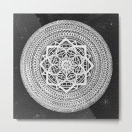 Heliocentric Mandala Metal Print