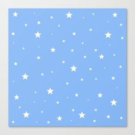 Scattered Stars on Sky Blue Canvas Print
