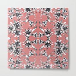 Lilium floral mirror Metal Print